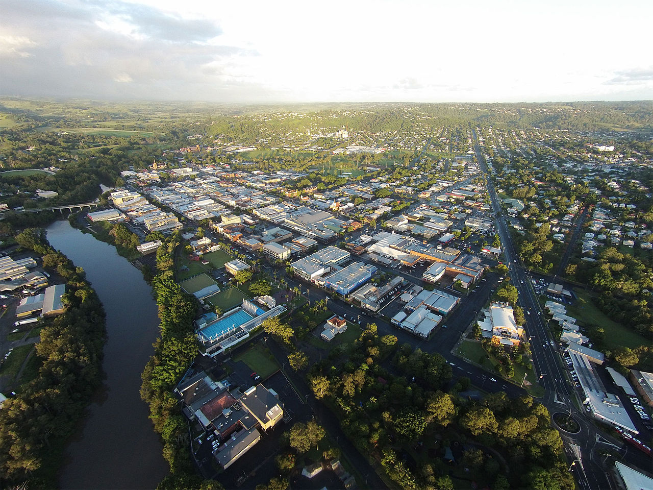 This image has an empty alt attribute; its file name is Lismore-NSW-Australia-Aerial-View.jpg  Nightcruiser Party Bus Tours and Transport - Lismore, NSW